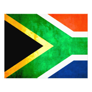 Colorful Contrast South AfricanFlag Custom Flyer