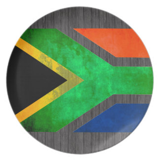 Colorful Contrast South AfricanFlag Dinner Plates