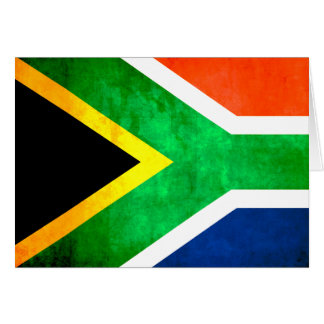 Colorful Contrast South AfricanFlag Greeting Cards