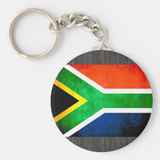 Colorful Contrast South AfricanFlag Keychains