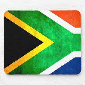 Colorful Contrast South AfricanFlag Mousepads