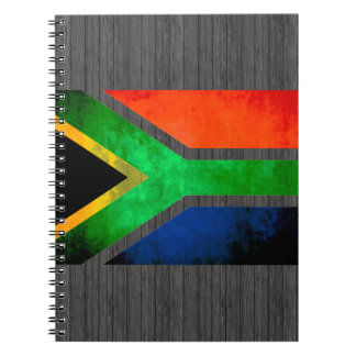 Colorful Contrast South AfricanFlag Note Books