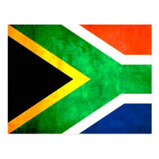 Colorful Contrast South AfricanFlag Postcards