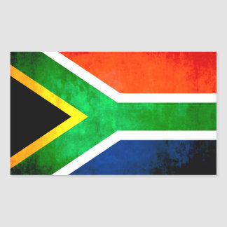 Colorful Contrast South AfricanFlag Rectangular Sticker