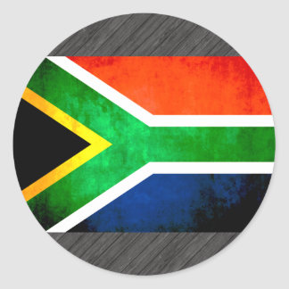 Colorful Contrast South AfricanFlag Round Sticker