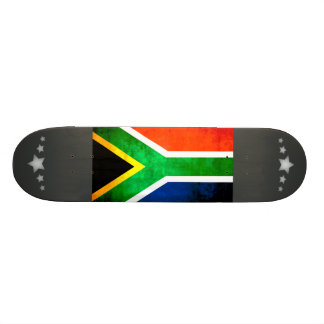 Colorful Contrast South AfricanFlag Skate Board
