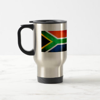 Colorful Contrast South AfricanFlag Stainless Steel Travel Mug