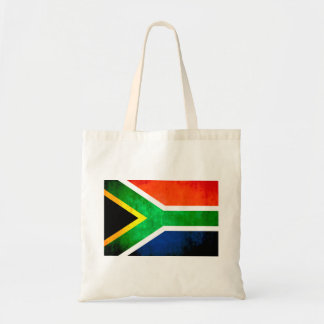 Colorful Contrast South AfricanFlag Tote Bags