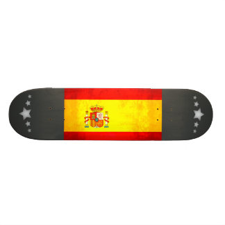 Colorful Contrast SpanishFlag Skateboard Decks