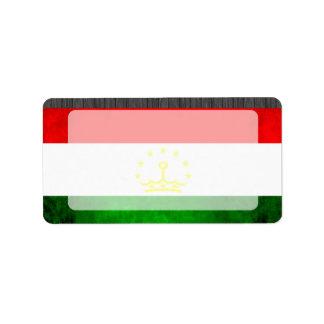 Colorful Contrast TajikFlag Address Label
