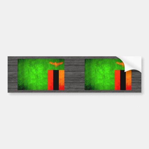 Colorful Contrast Zambian Flag Bumper Sticker