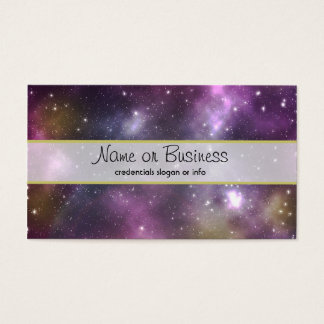 Colorful Cool Nebula and Stars in Space Business Card