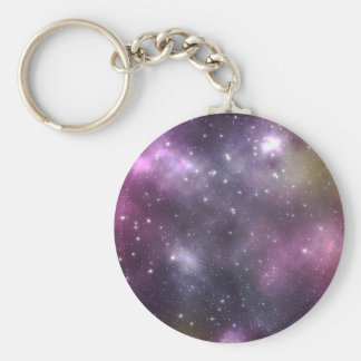 Colorful Cool Nebula and Stars in Space Keychains