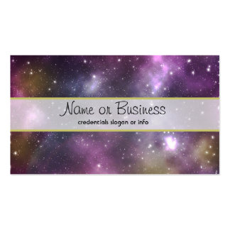 Colorful Cool Nebula and Stars in Space Pack Of Standard Business Cards