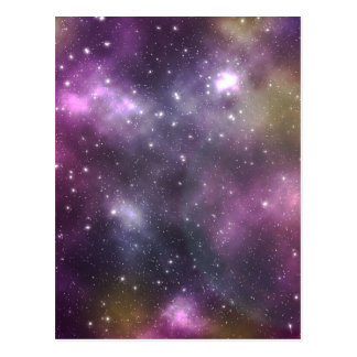 Colorful Cool Nebula and Stars in Space Postcard