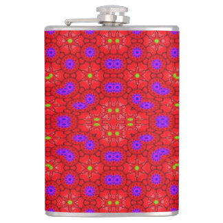 Colorful cool pattern hip flask