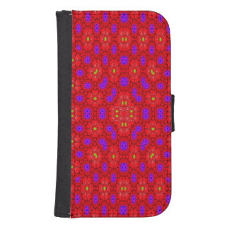 Colorful cool pattern samsung s4 wallet case