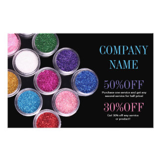 colorful cosmetics SPA beauty salon makeup artist Flyers
