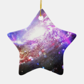 Colorful Cosmos Ceramic Star Decoration