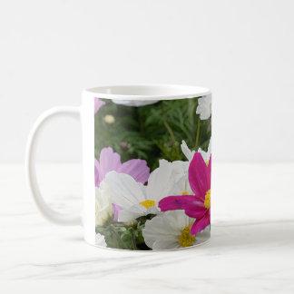 Colorful cosmos flower garden coffee mug