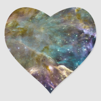 Colorful Cosmos - Space Splatter Heart Sticker