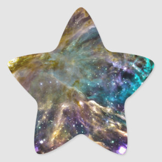 Colorful Cosmos Star Sticker