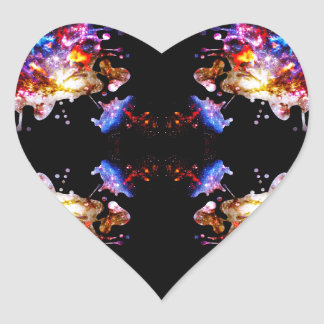 Colorful CosmosColorful Cosmos Heart Stickers
