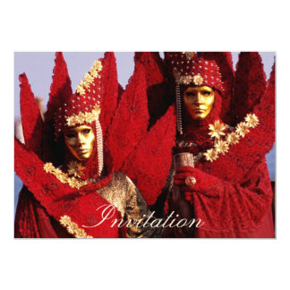 Colorful Couple 13 Cm X 18 Cm Invitation Card
