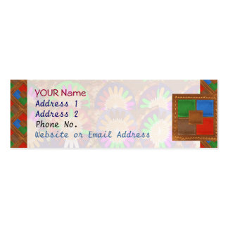 Colorful Cowboy Border Grace Leather Template Business Cards