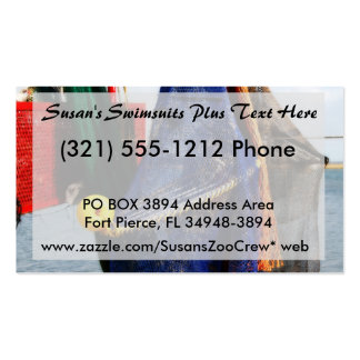 Colorful crabbing fishing nets and floats, florida pack of standard business cards