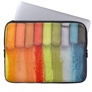 colorful crayons laptop sleeve