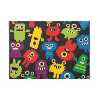 Colorful Crazy Fun Monsters Creatures Pattern iPad Mini Case