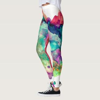 Colorful, Crazy, Unique Paint Splatter Rainbow Leggings