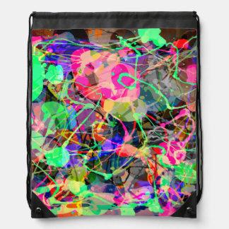 Colorful Creative Chaos Drawstring Bag