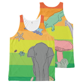 Colorful Creatures All-Over Print Tank Top