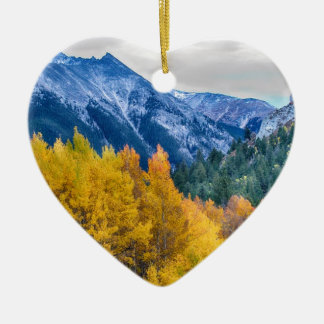 Colorful Crested Butte Colorado Christmas Ornament