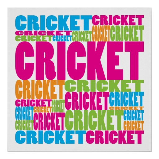 Colorful Cricket Print
