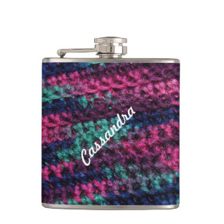 Colorful Crochet Hip Flask