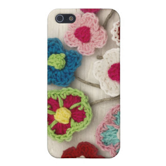 colorful crocheted flowers case for iPhone 5