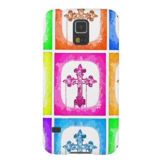 Colorful Crosses Christian Pop Art Galaxy Nexus Cases