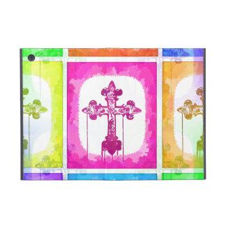 Colorful Crosses Christian Pop Art Collage iPad Mini Case
