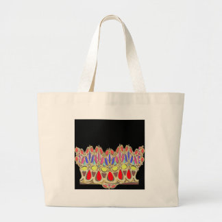 Colorful crown gifts add Greeting Wisdom Quote Jumbo Tote Bag