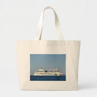 Colorful Cruise Ship Large Tote Bag