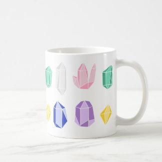 Colorful Crystals Pattern Basic White Mug