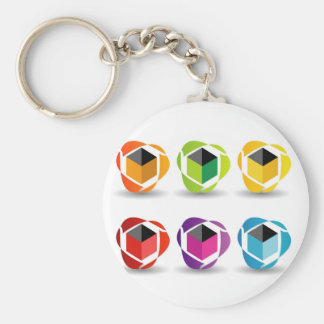 colorful cubes and shadow keychains