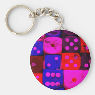 colorful cubes key chains