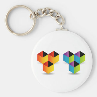 colorful cubes keychains