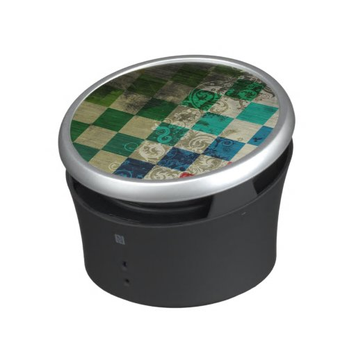 colorful cubes with swirl vector art bluetooth speaker