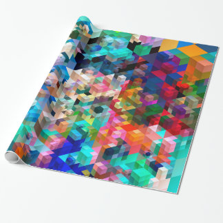 Colorful Cubes Wrapping Paper