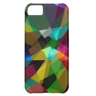 Colorful cubism art cover for iPhone 5C